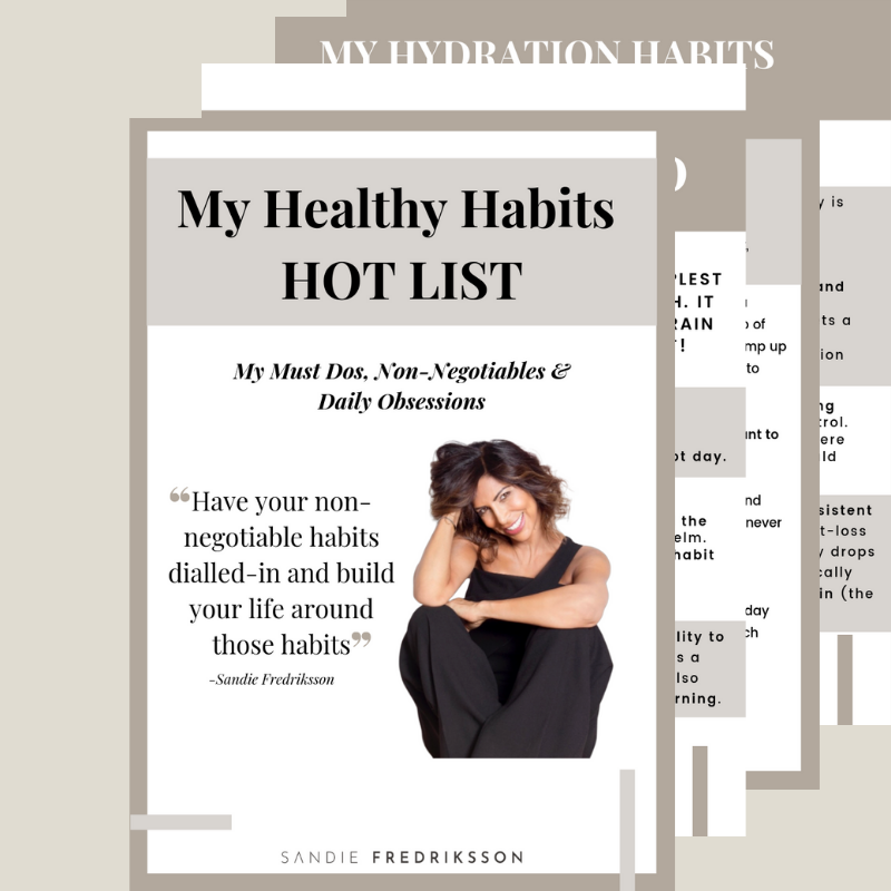Healthy Habits HOT LIST